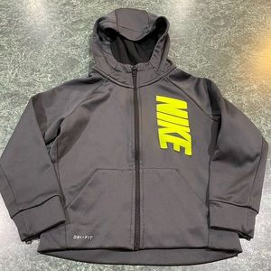Nike Dri Fit Full Zip Gray Hoodie Youth Size Small